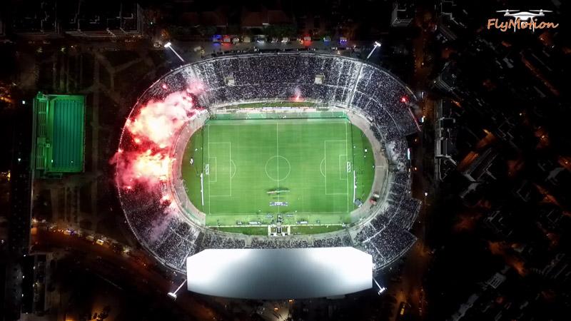 Aerial flying of the Toumba Stadium