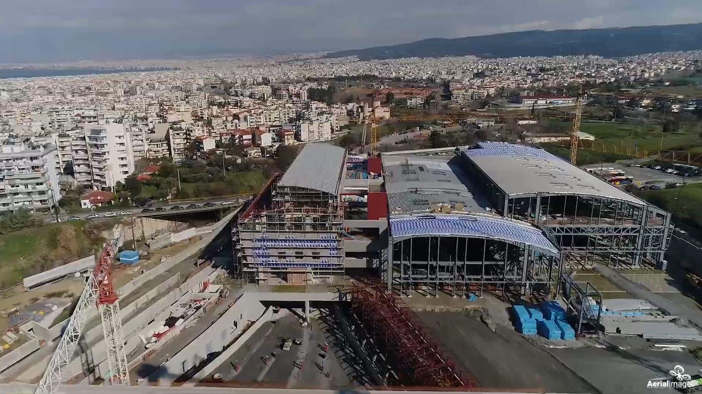 Construction underground railway in Thessaloniki