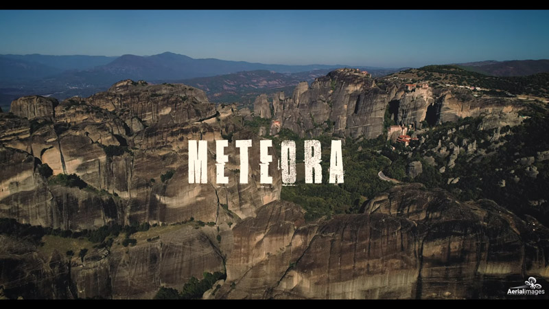 View of the Meteora in Greece